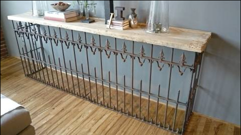 Burglar Bars as Part of Console Table
